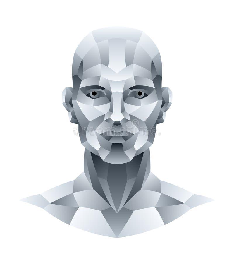 Download Kamienna głowa ilustracja wektor. Obraz złożonej z sztucznie - 30391236