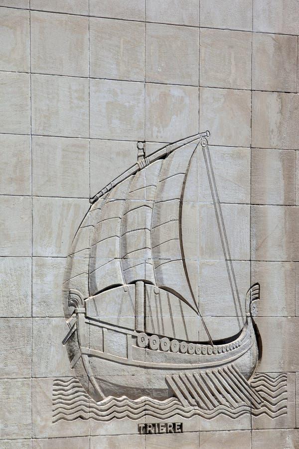 kamienna galery rzeźbiąca ściana fotografia royalty free