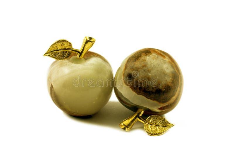 Kamienna pamiątka półszlachetny kamień - jabłka onyks - obrazy stock