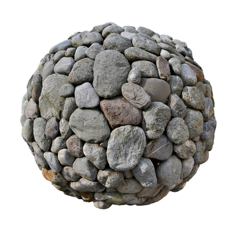 Kamienna piłka obrazy stock