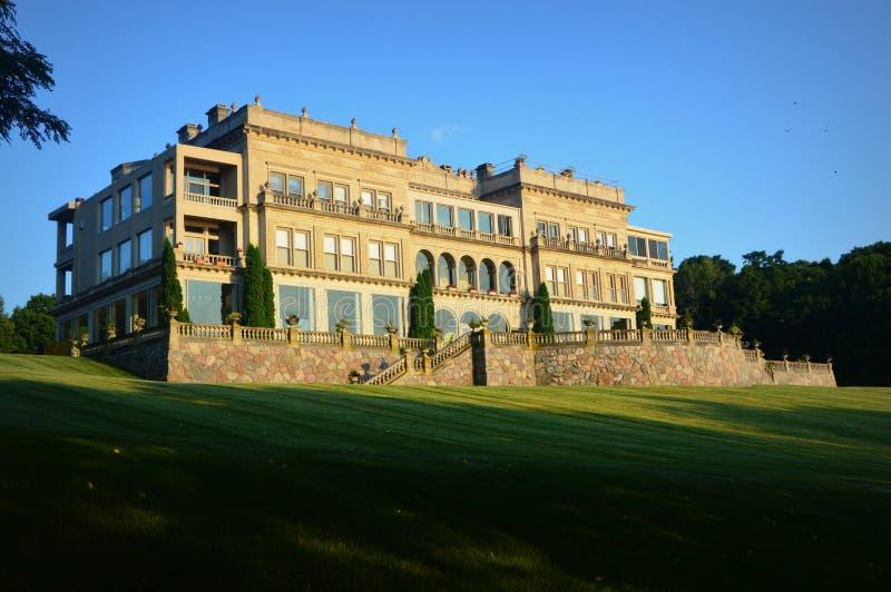 Kamienna rezydencja ziemska Jeziorny Genewa, WI obraz royalty free