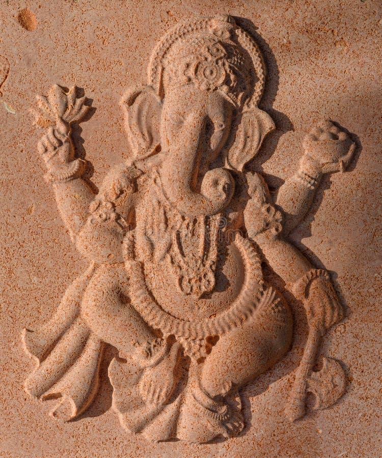 Kamienna rzeźba ganesha słonia bóg obraz stock