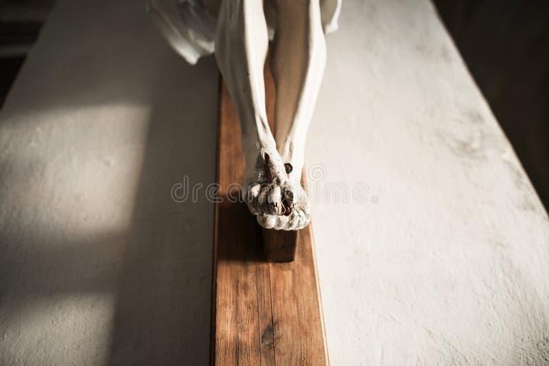 Kamienna statua krzyżowanie jezus chrystus fotografia royalty free