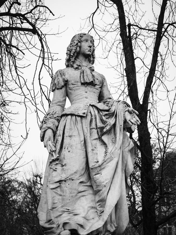 Kamienna statua reprezentuje Anne Louise d ` Orléans w Lu zdjęcie stock
