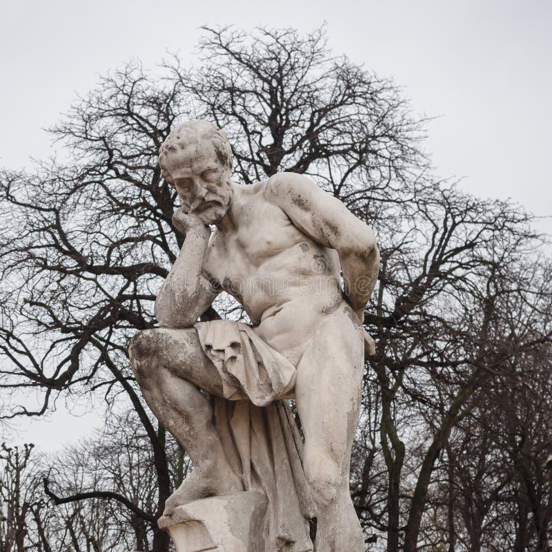 Kamienna statua reprezentuje Marius De Zwycięzca Vilain wśrodku luksa zdjęcie stock
