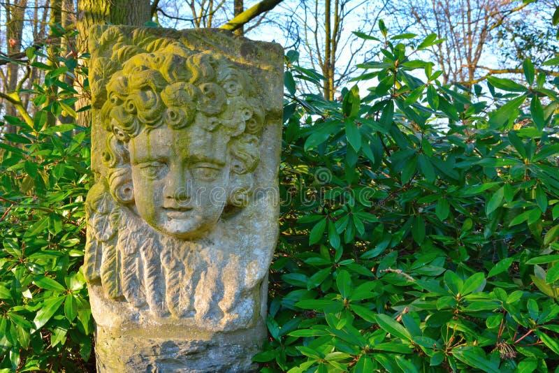 Kamienna statua twarz dziecko zdjęcie royalty free