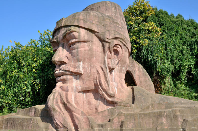 Kamienna statua Wu Daozi obrazy royalty free