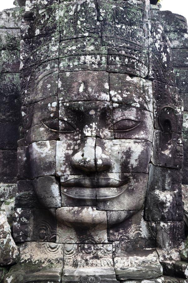 Kamienna twarz w Kambodża obraz royalty free
