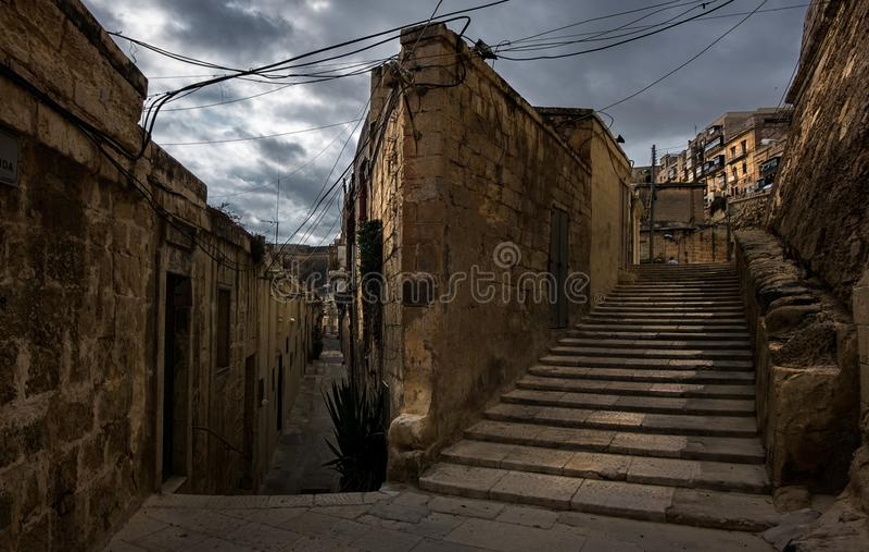 Kamienne ściany Malta valletta fotografia stock
