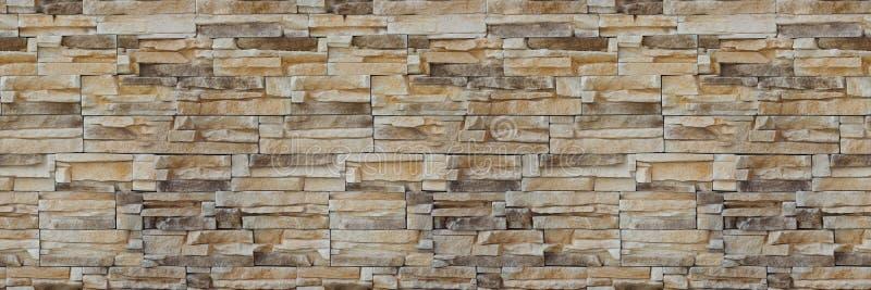 kamiennej ściany cegły tekstura bezszwowy wzoru Tło Piaskowcowa fasada zdjęcia stock