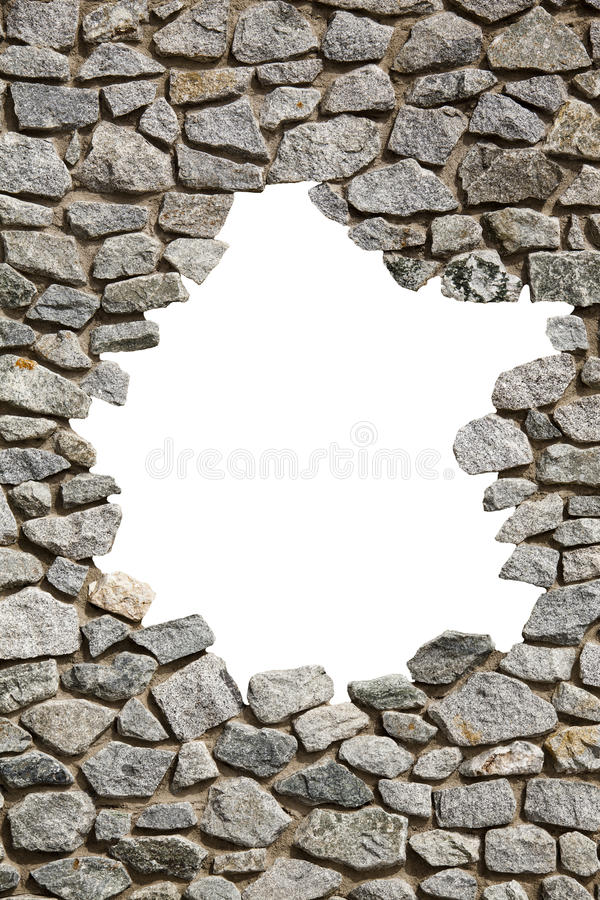 Kamiennej ściany rama z pustą dziurą PNG dostępny zdjęcia stock
