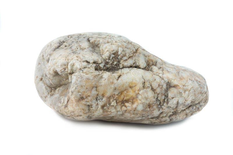 Kamiennej skała marmuru rzeki odosobniony biały tło zdjęcie stock