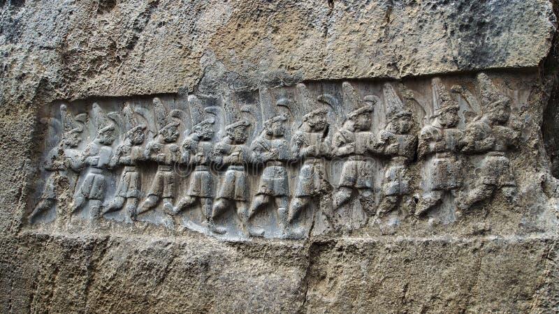 Kamienni cyzelowania w Hattusas obraz royalty free