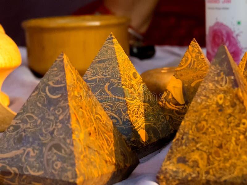 Piramidy kamienne wykonane z piasku kamiennego zdjęcie stock