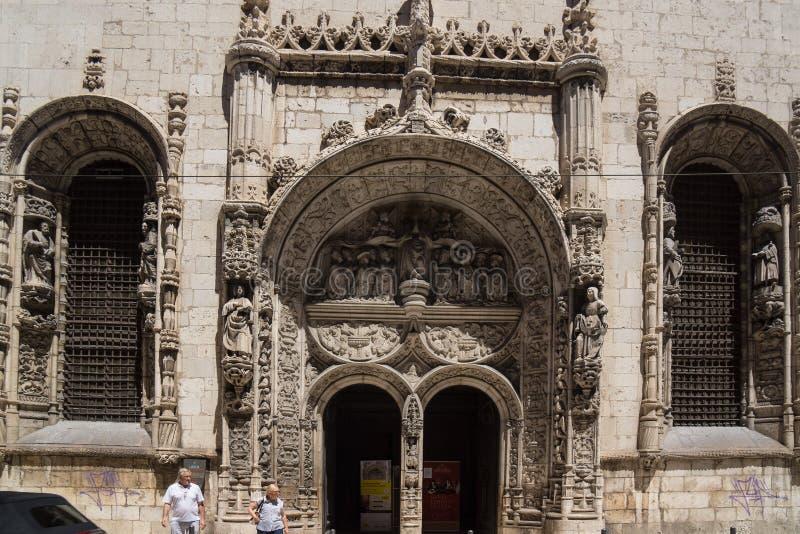Kamienny łuk z dużo szczegóły obrazy royalty free