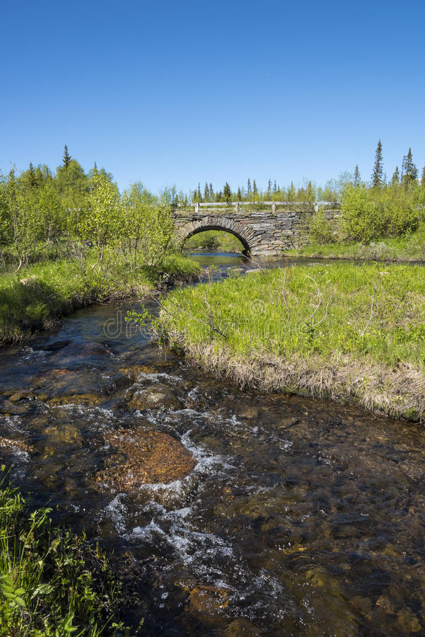 Kamienny łuku most Jamtland obrazy stock