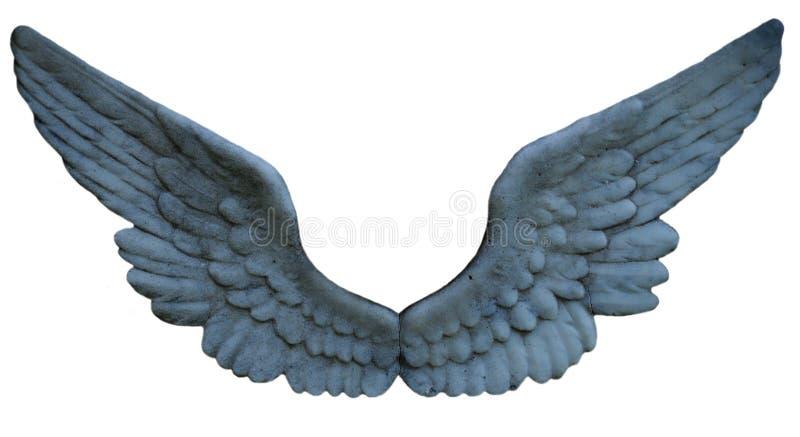 Kamienny anioła skrzydła grono obrazy royalty free