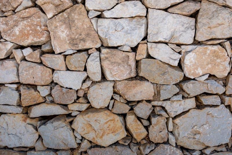 Kamienny blok budująca ściana zdjęcie stock