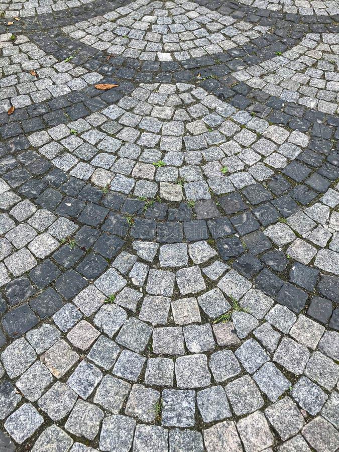 Kamienny bruk w perspektywie obraz stock