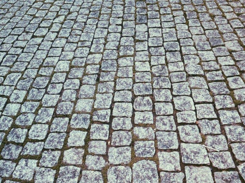 Kamienny cegły drogi wzór zdjęcie stock