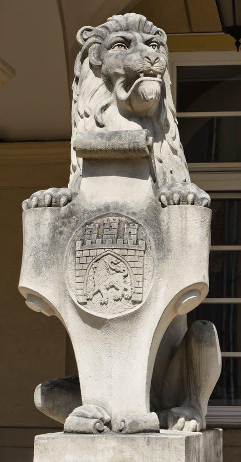 Kamienny cyzelowanie lew zdjęcia stock