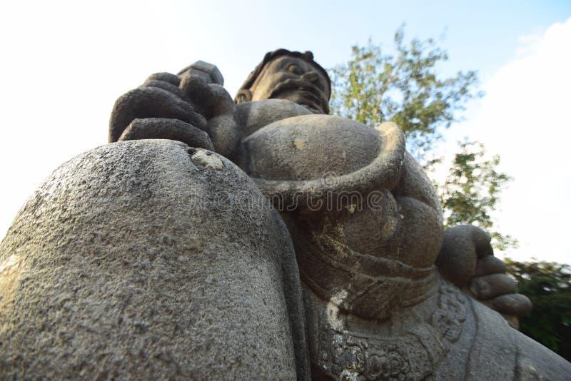 Kamienny cyzelowanie w Jogja obraz royalty free
