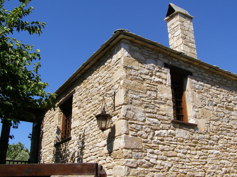 Kamienny dom zdjęcia stock