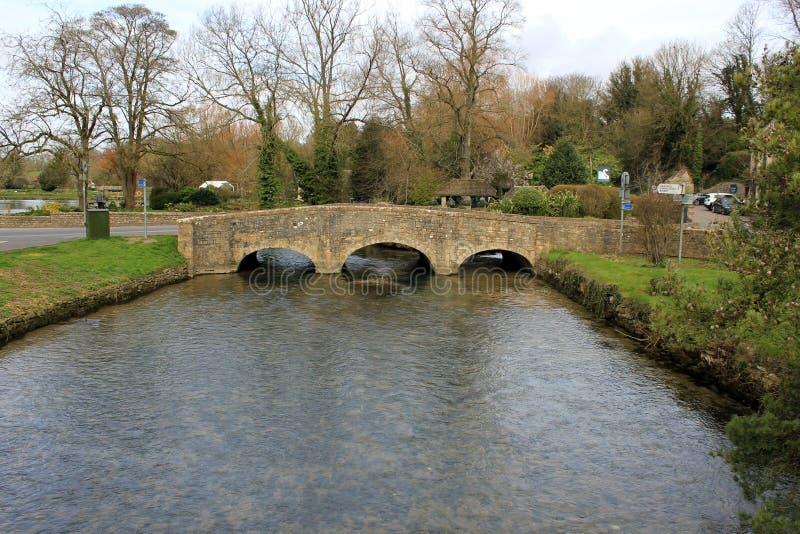 Kamienny footbridge obraz royalty free