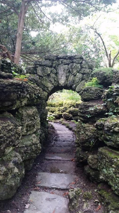 Kamienny Gardenns spacer ten sposób fotografia stock