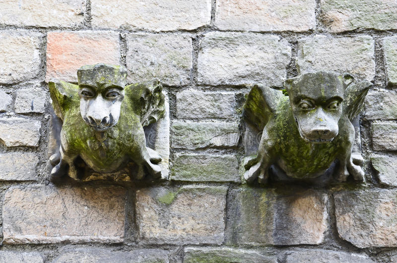 Kamienny gargulec obrazy royalty free