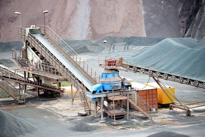 Kamienny gniotownik w łup kopalni porfir kołysa fotografia royalty free