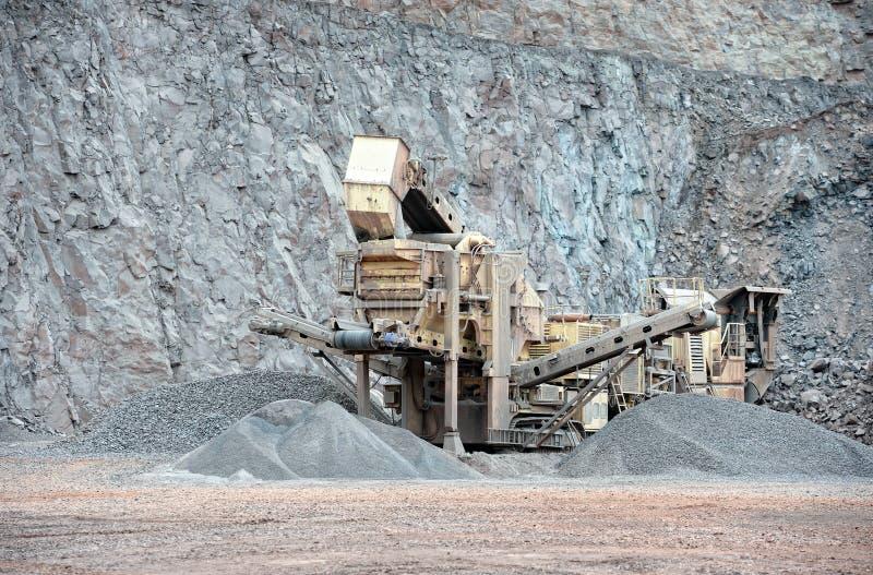 Kamienny gniotownik w łup kopalni porfir kołysa zdjęcia royalty free