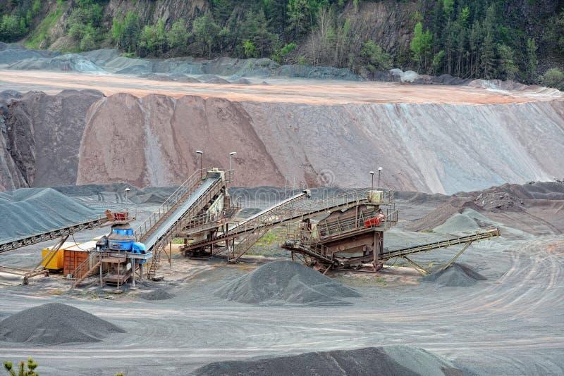 Kamienny gniotownik w łup kopalni porfir kołysa zdjęcie royalty free
