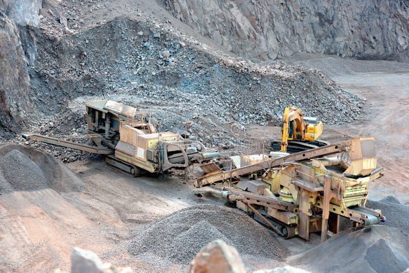 Kamienny gniotownik w łup kopalni porfir kołysa obraz stock