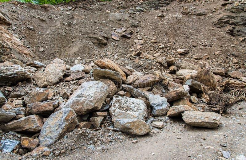 Kamienny gniotownik w kopalnianym łupie fotografia stock