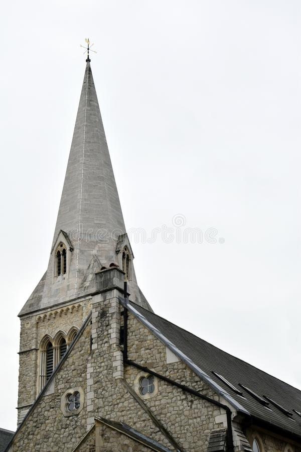 Kamienny kościół na białym tle zdjęcie stock