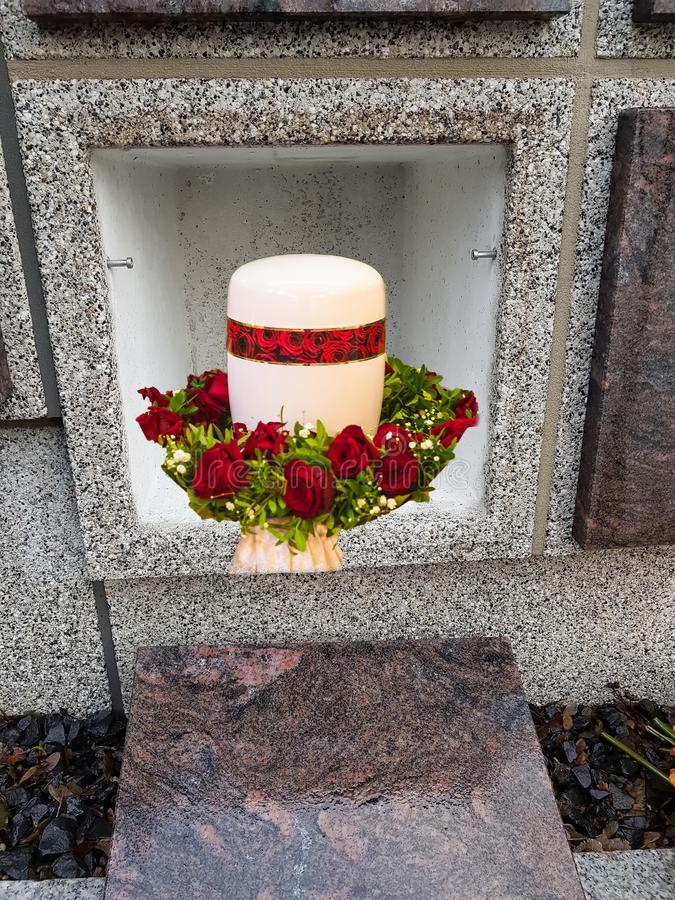 Kamienny kolumbarium obraz royalty free
