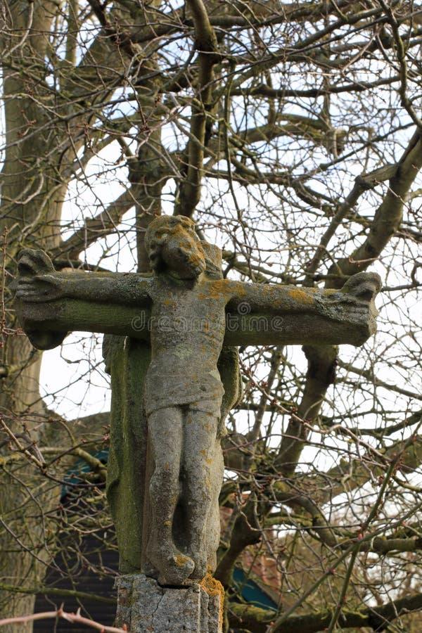 Kamienny krzyż Jezus zdjęcie stock