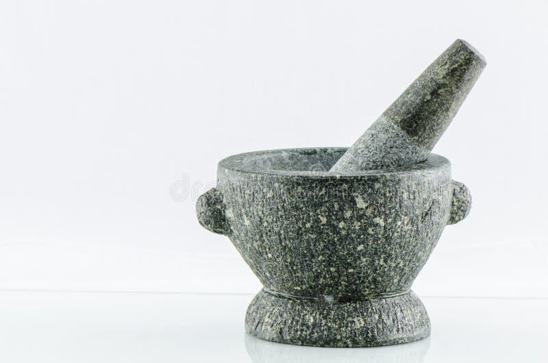 Kamienny moździerz i tłuczek zdjęcie royalty free