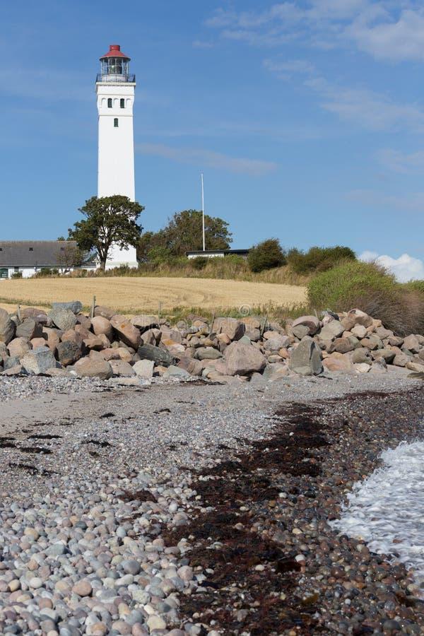 Kamienny morze i latarnia morska fotografia royalty free