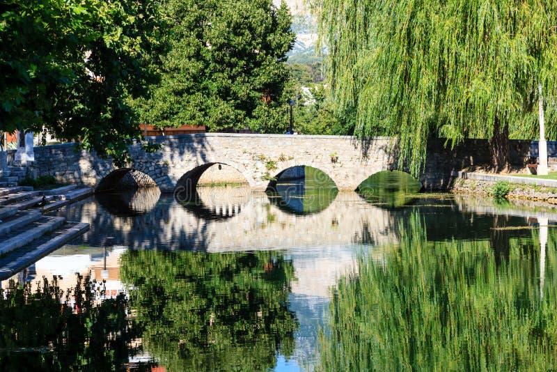 Kamienny Most Rzeka i Wierzba, zdjęcia royalty free