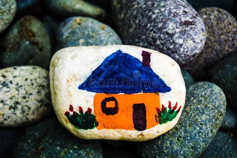 Kamienny obraz - dom lub dom zdjęcia stock