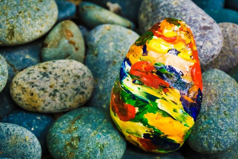 Kamienny obraz - Kolorowa Abstrakcjonistyczna sztuka zdjęcia stock