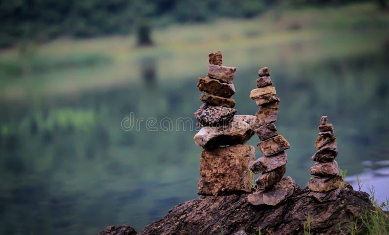 3 Kamienny ostrosłup fotografia stock