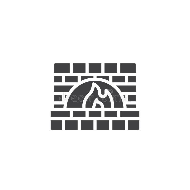 Kamienny piekarnik ikony wektor royalty ilustracja