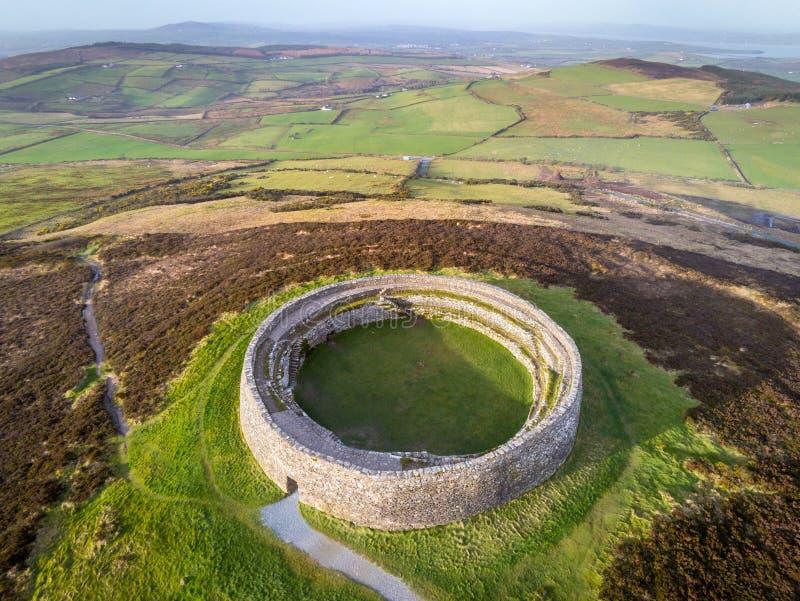 Kamienny Ringowy fort Grianan Aileach zdjęcia stock