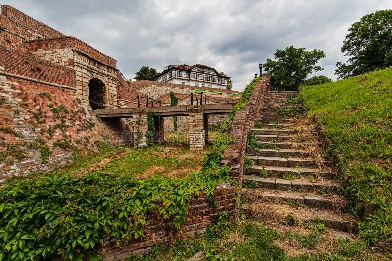 Kamienny schody przy Belgrade fortecą obraz royalty free