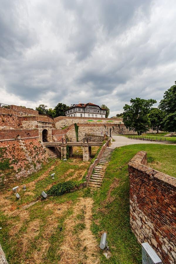 Kamienny schody przy Belgrade fortecą fotografia royalty free