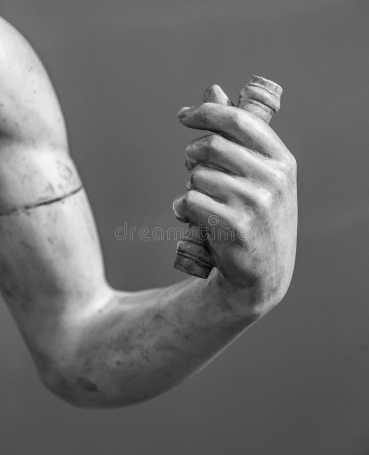 Kamienny statua szczegół ludzka ręka obraz royalty free