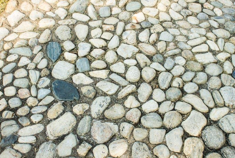 Kamienny tło, otoczaków kamienie fotografia royalty free